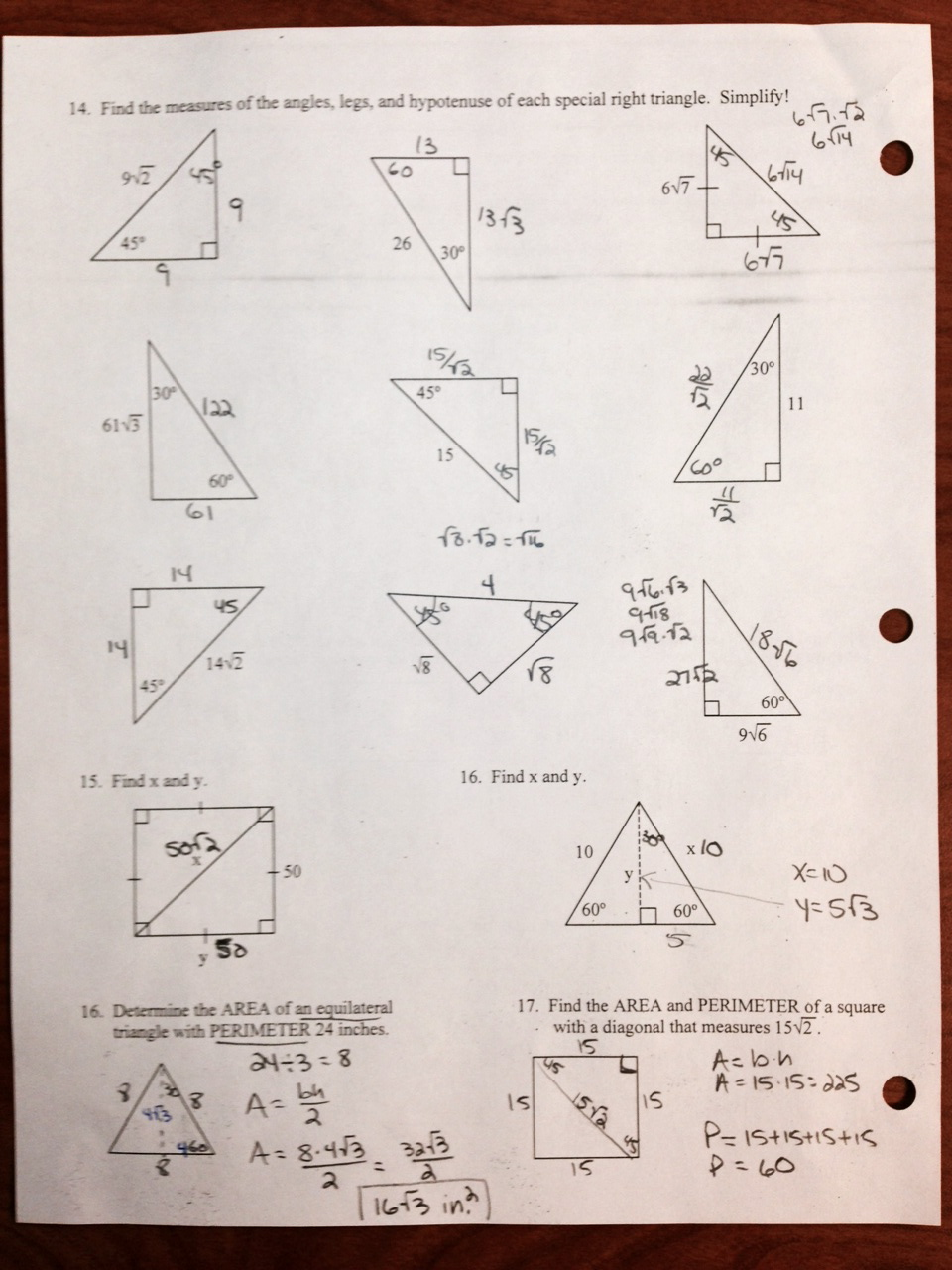 Worksheet Geometry Worksheet Answers geometry 10 mrs burgess mill creek middle school ch 9 review answers